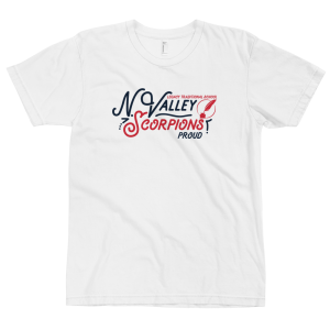 LTS North Valley Scorpions White Script T-shirt 2020